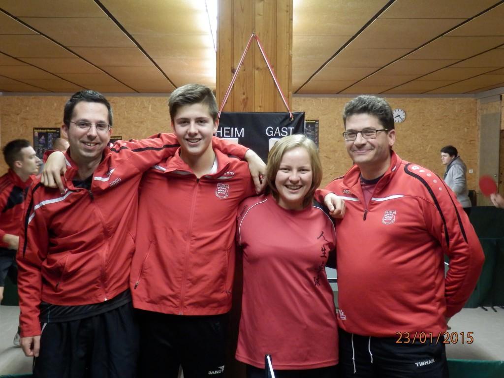 Trainerteam v.l. Michael Grimmeisen, Benjamin Folk, Franziska Bross, Volker Langenstein