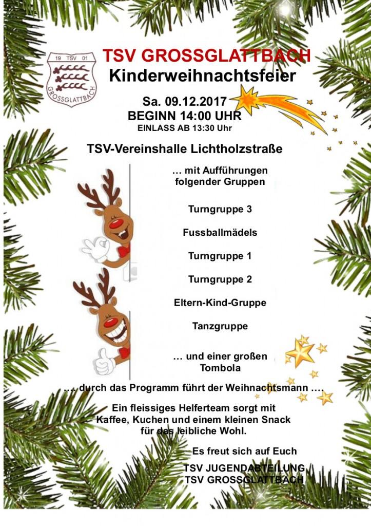 Plakat Kinderweihnachtsfeier 2017