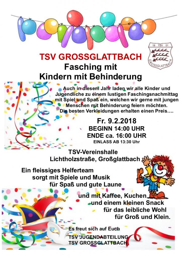 Plakat Kinderfasching 290118