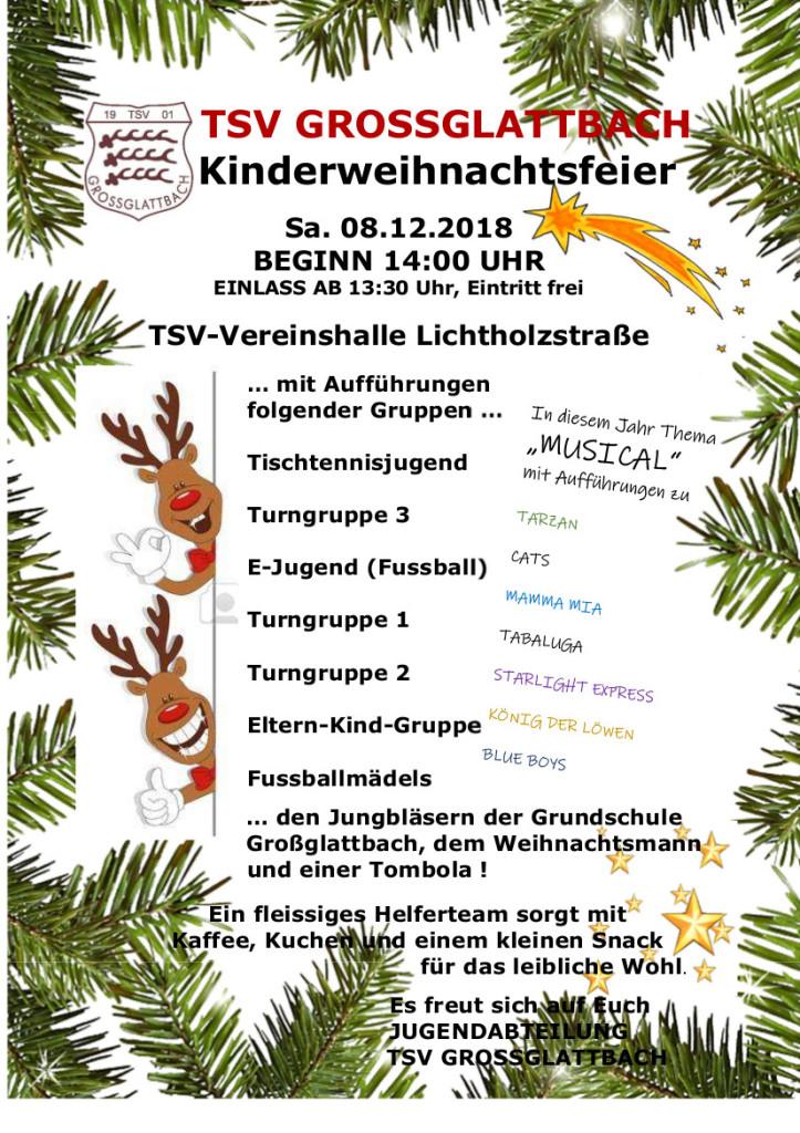 Plakat Kinderweihnachtsfeier 2018